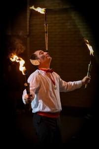 fire juggler in yorkshire