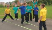 french skipping in the playground