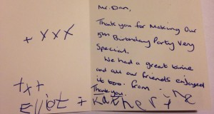 thank you card from elliot and catharine